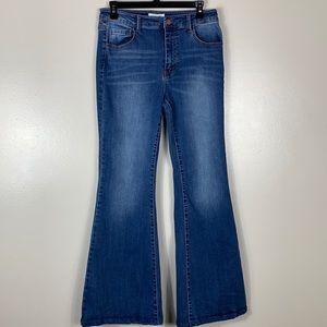 Black Label Flare Wide Leg jean size 9